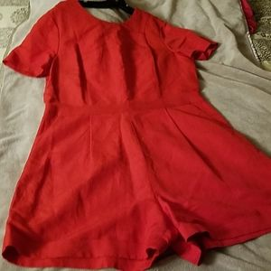 Dressy Red short jump suit